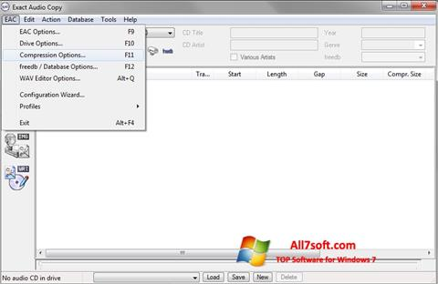 Screenshot Exact Audio Copy per Windows 7