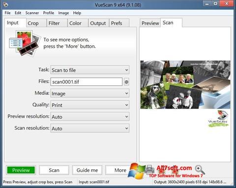 Screenshot VueScan per Windows 7