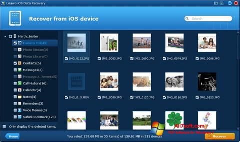 Screenshot iPhone Data Recovery per Windows 7