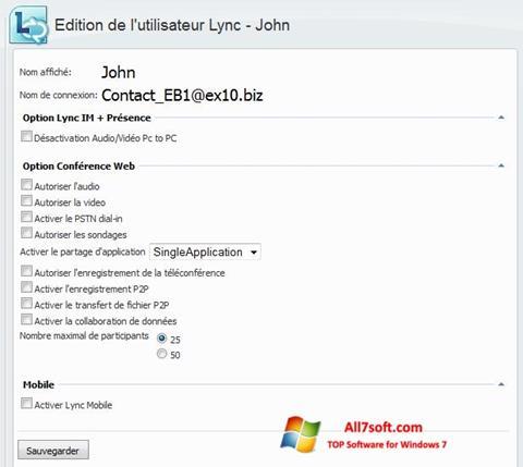 Screenshot Lync per Windows 7