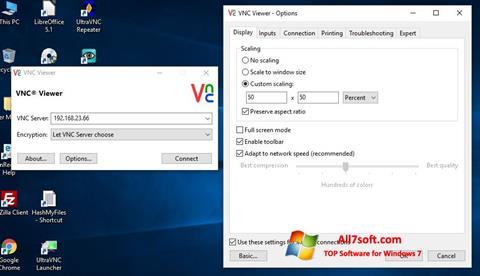 Screenshot VNC per Windows 7
