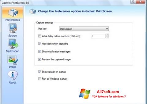 Screenshot Gadwin PrintScreen per Windows 7