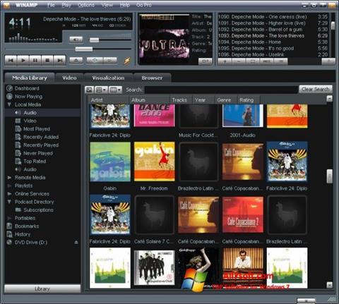Screenshot Winamp per Windows 7