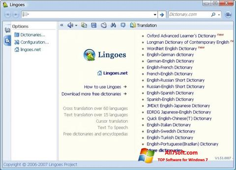 Screenshot Lingoes per Windows 7