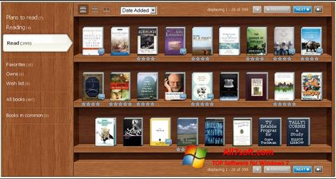 Screenshot Bookshelf per Windows 7