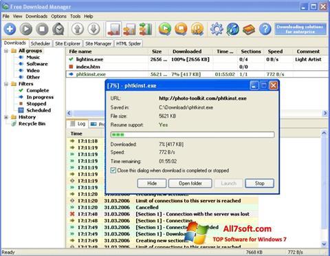 Screenshot Download Master per Windows 7