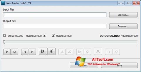 Screenshot Free Audio Dub per Windows 7