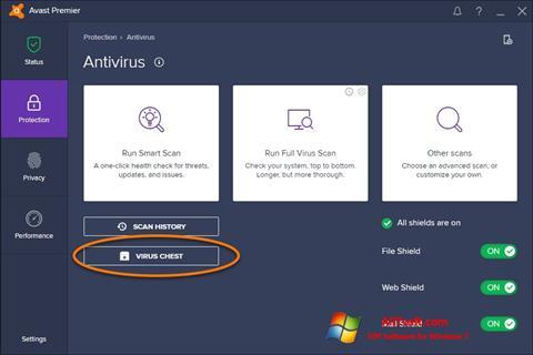 Screenshot Avast per Windows 7