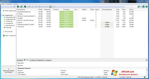 Screenshot uTorrent per Windows 7
