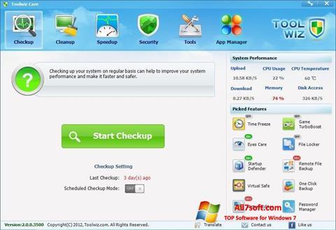 Screenshot Toolwiz Care per Windows 7
