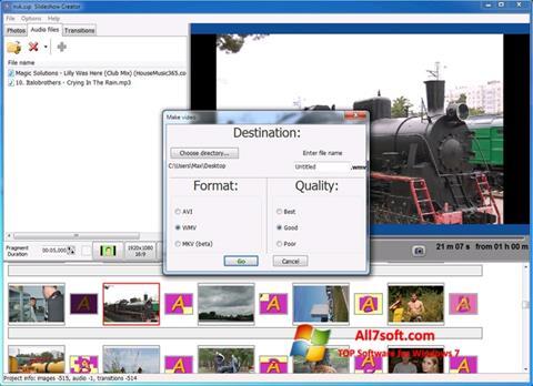 Screenshot Bolide Slideshow Creator per Windows 7