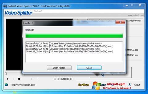 Screenshot Boilsoft Video Splitter per Windows 7