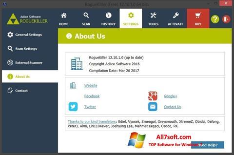 Screenshot RogueKiller per Windows 7