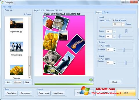 Screenshot CollageIt per Windows 7