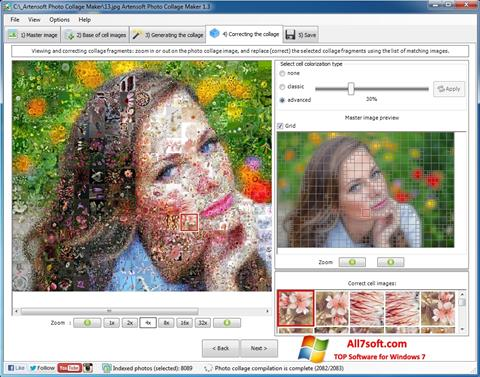 Screenshot Photo Collage Maker per Windows 7