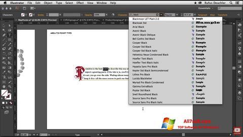 Screenshot Adobe Illustrator per Windows 7