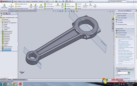 Screenshot SolidWorks per Windows 7