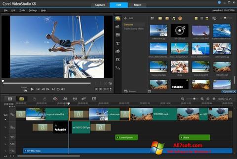 Screenshot Corel VideoStudio per Windows 7