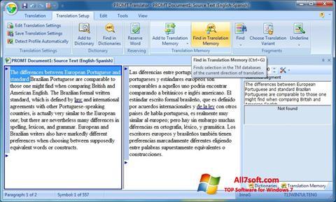 Screenshot PROMT per Windows 7