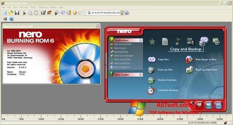 Screenshot Nero Burning ROM per Windows 7