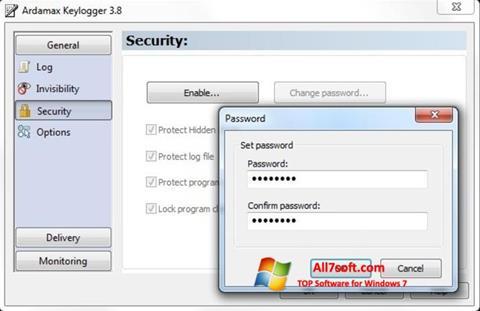 Screenshot Ardamax Keylogger per Windows 7