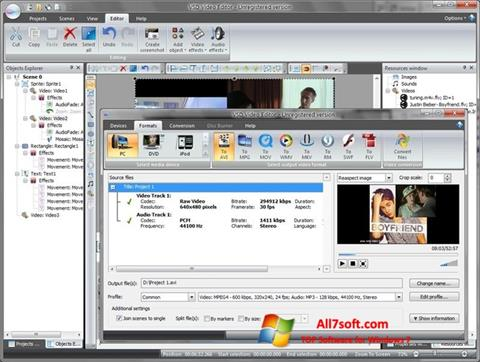 Screenshot Free Video Editor per Windows 7