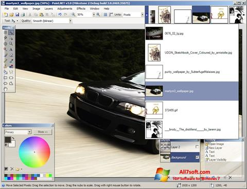 Screenshot Paint.NET per Windows 7