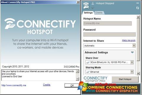 Screenshot Connectify per Windows 7