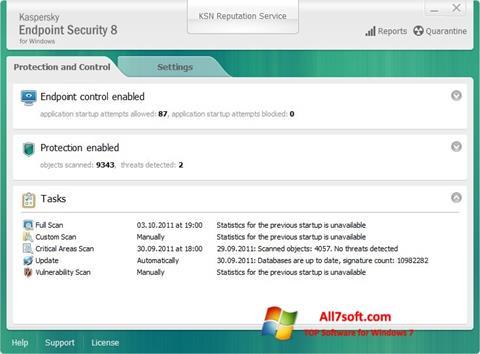Screenshot Kaspersky Endpoint Security per Windows 7