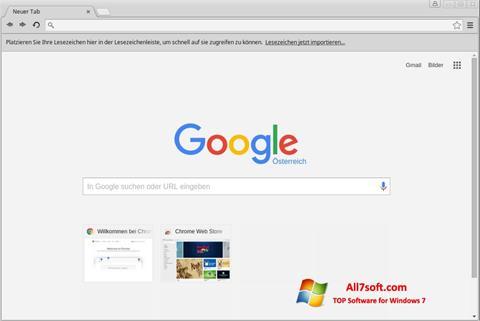 Screenshot Google Chrome per Windows 7