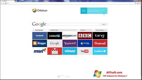 Screenshot Orbitum per Windows 7