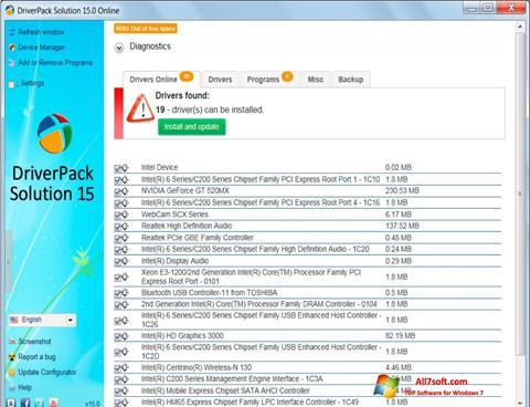 Screenshot DriverPack Solution per Windows 7