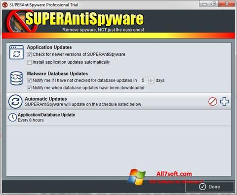 Screenshot SUPERAntiSpyware per Windows 7