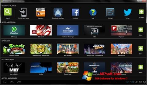 Screenshot BlueStacks per Windows 7
