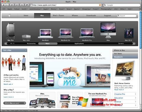 Screenshot Safari per Windows 7