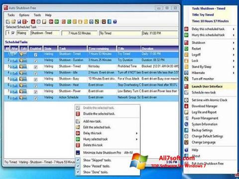 Screenshot Auto ShutDown per Windows 7