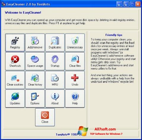 Screenshot EasyCleaner per Windows 7