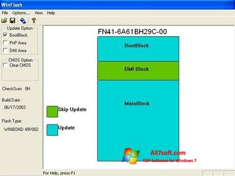 Screenshot WinFlash per Windows 7