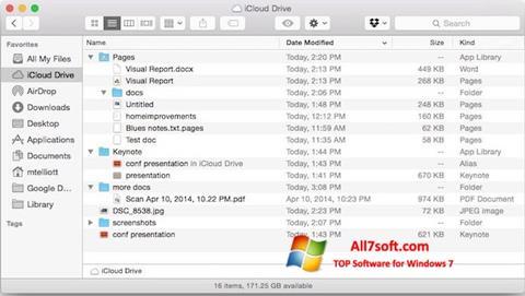 Screenshot iCloud per Windows 7
