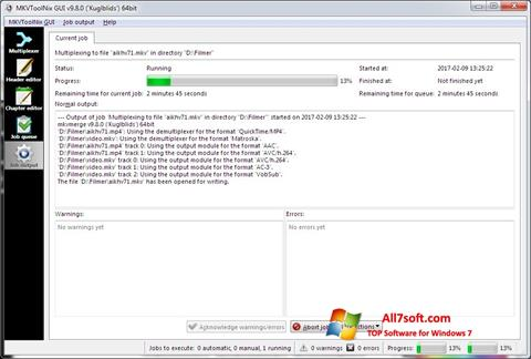 Screenshot MKVToolnix per Windows 7