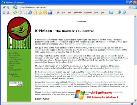 Screenshot K-Meleon per Windows 7