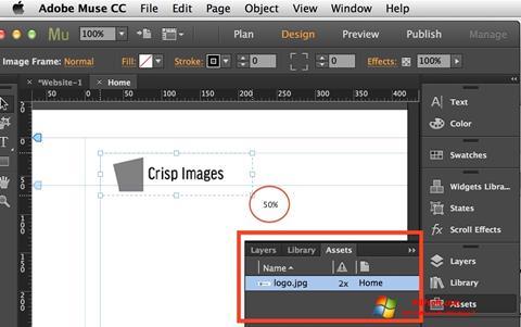 Screenshot Adobe Muse per Windows 7