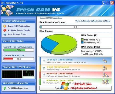 Screenshot Fresh RAM per Windows 7