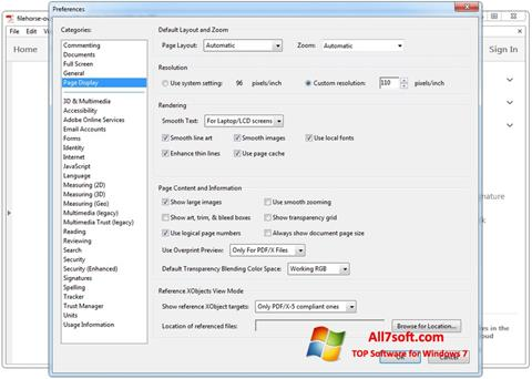 Screenshot Adobe Acrobat per Windows 7