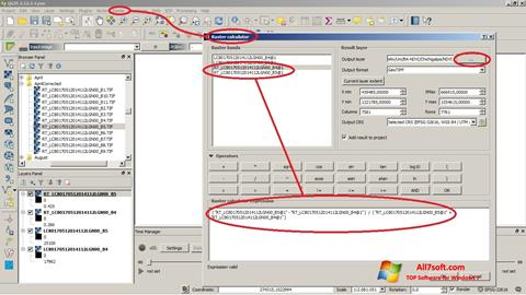 Screenshot QGIS per Windows 7
