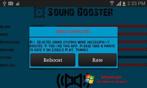 Screenshot Sound Booster per Windows 7