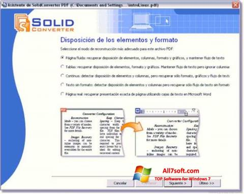 Screenshot Solid Converter PDF per Windows 7