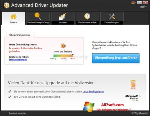 Screenshot Advanced Driver Updater per Windows 7