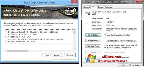 Screenshot Intel Chipset per Windows 7