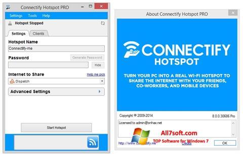 Screenshot Connectify Hotspot per Windows 7